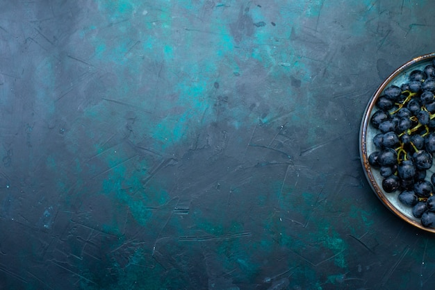 ダークブルーのトップビューフレッシュブラックグレープ