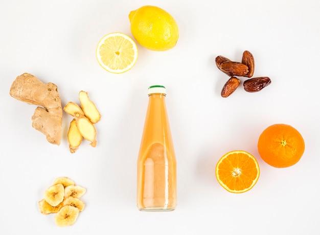 Top view frutis for smoothie frame