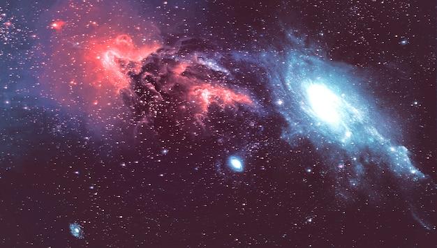 Вид сверху галактика космос