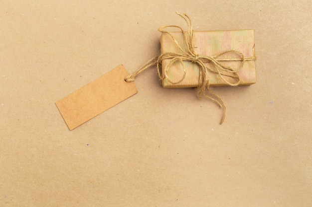 Top view of gift box