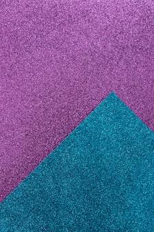 Top view glittery paper arrangement