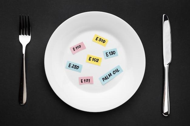 접시에 상위 뷰 gmo 단어