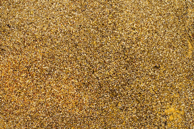Top view golden glitter background