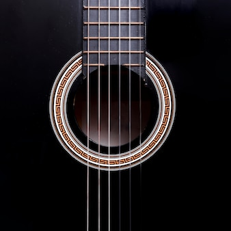 Top view of a guitar