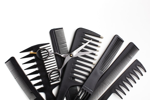 Top view of hair comb set