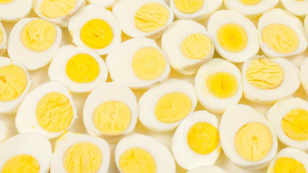 上面図半熟卵の配置