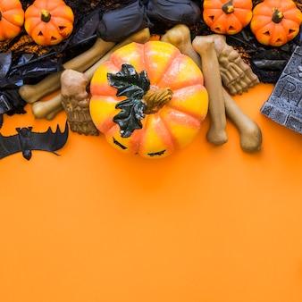 Top view halloween background