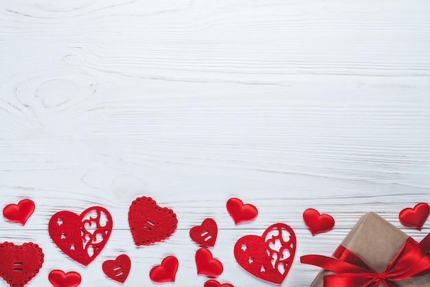 Top view holdiay, st. valentine's flatlay