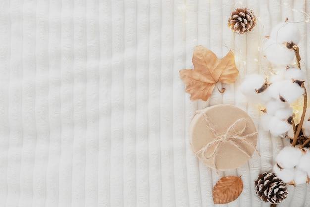 ウールの毛布の上面図の家の装飾