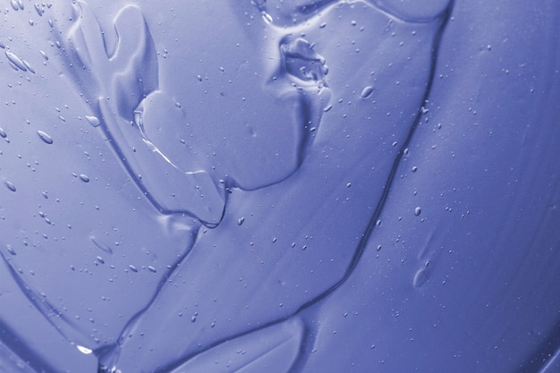 Primo piano di gel idroalcolico vista dall'alto