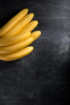 Top view image of fruit banana