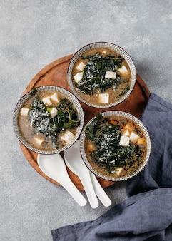 ボウル配置の上面図日本食