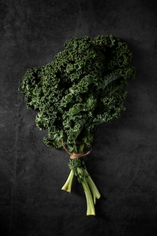 Top view kale salad