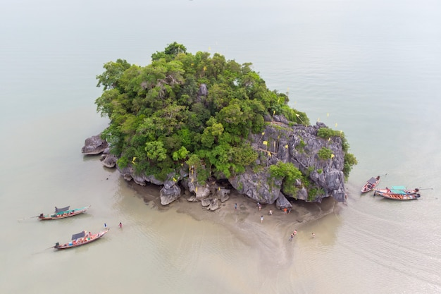 Top view of koh nui nok ,nakhon si thammarat