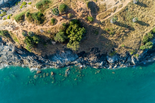 Top view landscape of beautiful tropical sea