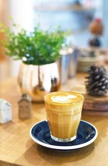 탑 뷰 라떼 아트 커피