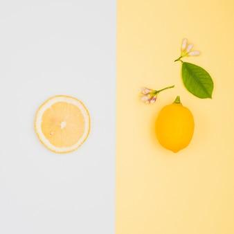 Top view lemons