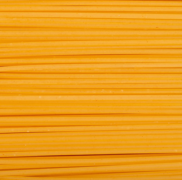 Top view of linguine pasta as