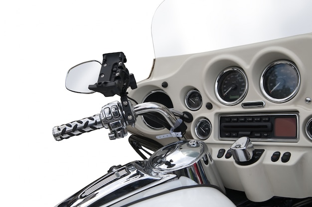 Top view of a luxurious motorcycle