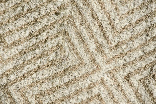 천연 린넨 직물의 아름다운 패턴과 질감의 상위 뷰 매크로.