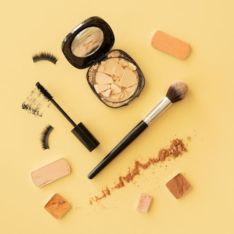 Top view make up products