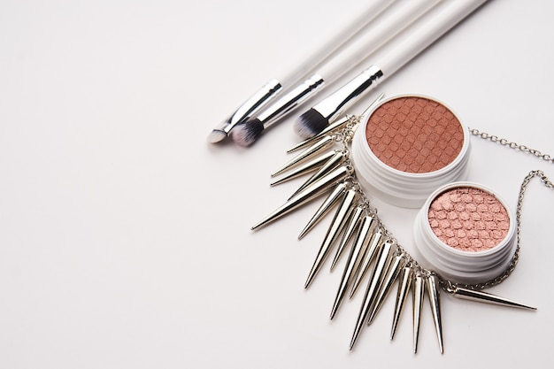 Top view make up set of products