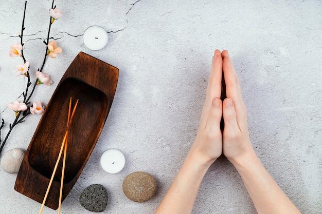 Сеанс медитации вид сверху
