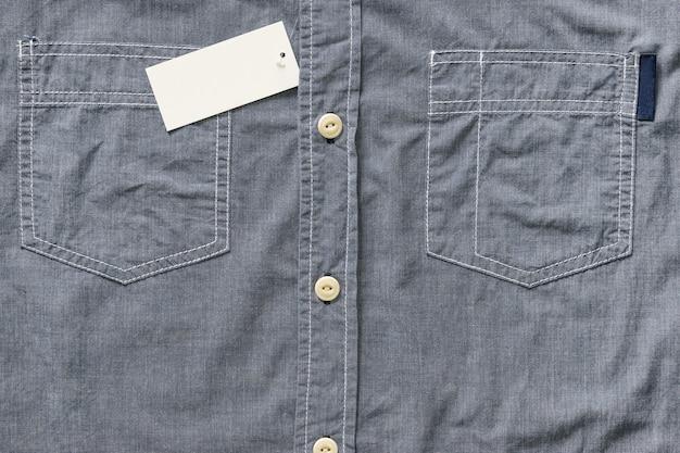 Top view of men shirt
