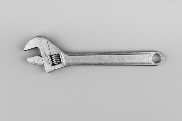 Top view metal wrench