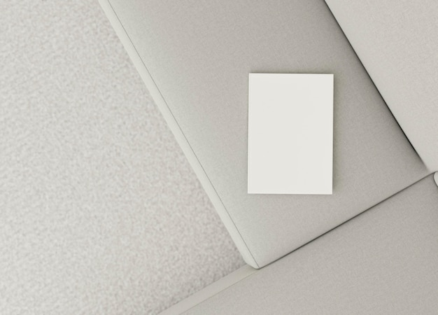 Design del divano interno minimale vista dall'alto
