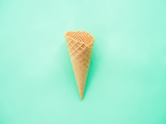 Top view : minimal summer concept of  ice cream