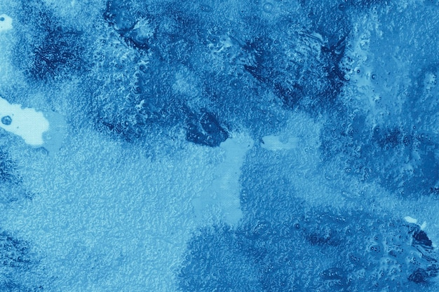 青い色合いのトップビューミックス