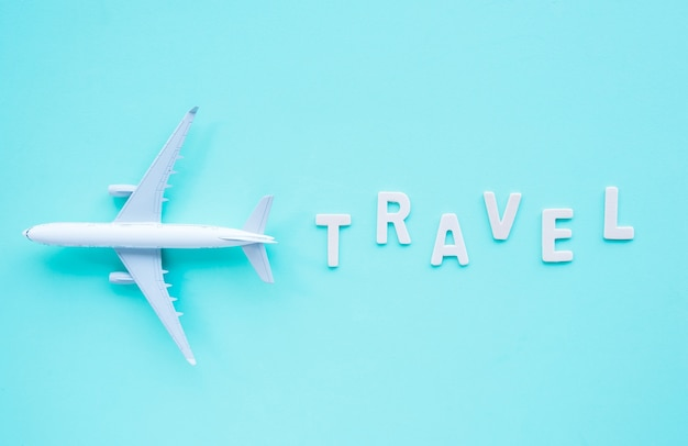 Top view, model plane and travel.