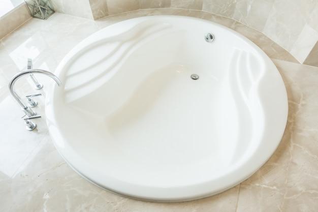 Top view of modern bathtub