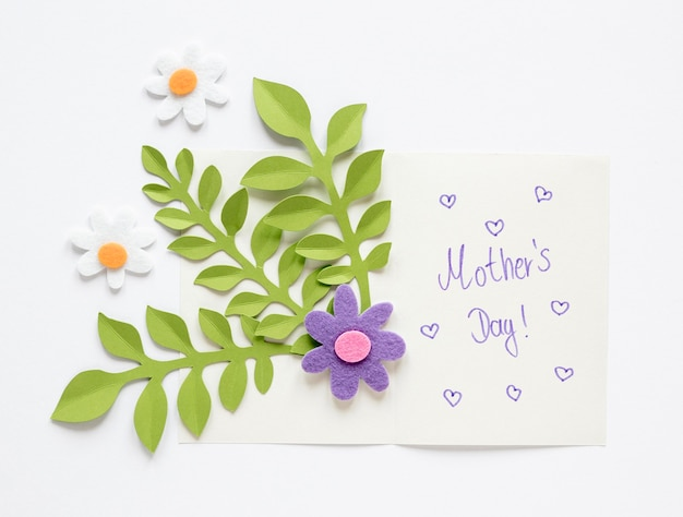Top view mother's day card