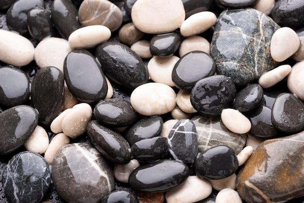 상위 뷰 자연 바위 질감