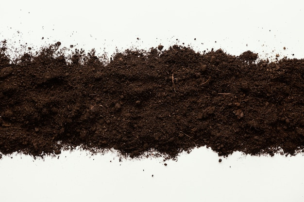 Top view natural soil