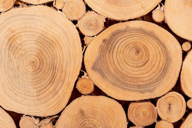 上面図自然な木の質感
