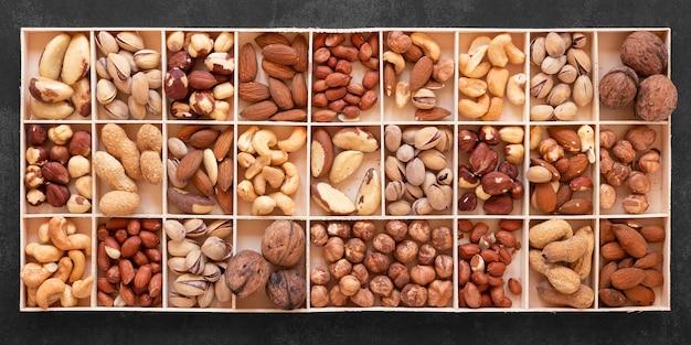 Top view of nuts arrangement concept