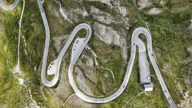 道路の上面図