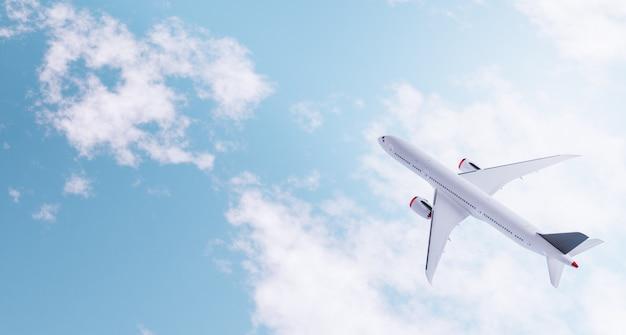 구름 위의 비행기의 평면도