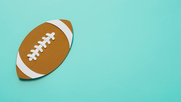 Вид сверху американского футбола с копией пространства