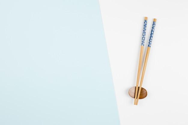アジアの箸のトップビュー