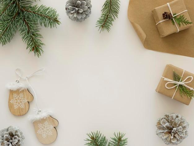 美しいクリスマスの概念の上面図
