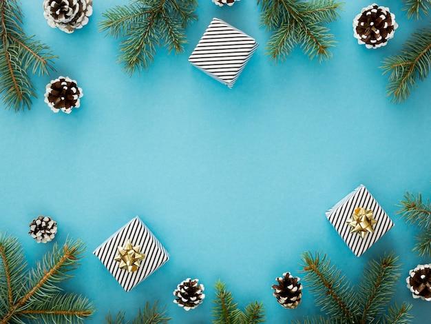 Вид сверху красивой рождественской концепции