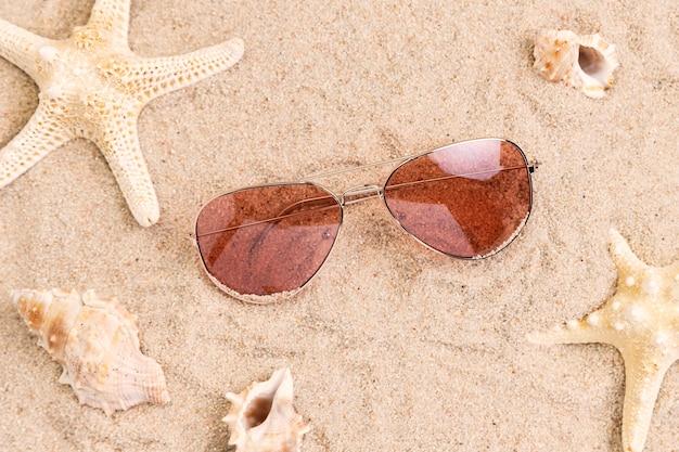 아름다운 여름 개념의 상위 뷰
