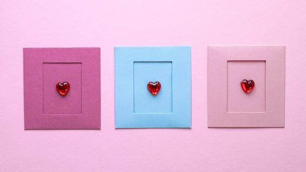 아름다운 발렌타인 데이 개념의 상위 뷰