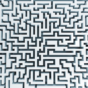 大きな白い迷宮の上から見る