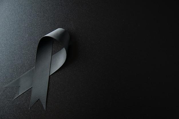어두운 벽에 검은 나비의 상위 뷰