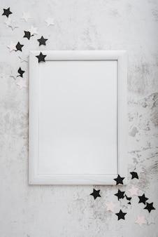 空白のフレームの概念の上面図